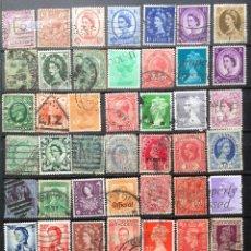 Sellos: REINO UNIDO GRAN BRETAÑA UNITED KINGDOM IMPERIO 50 SELLOS USADOS UK-2. Lote 144473090