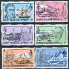 Sellos: B.A.T. ANTARTICO BRITANICO 1980 IVERT 90/95 *** 150ª ANIVERSARIO DE LA REAL SOCIEDAD GEOGRÁFICA . Lote 146621754