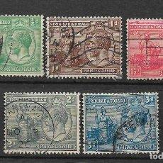Sellos: TRINIDAD AND TOBAGO 1922 SC# 21/25 USED - 8/35. Lote 218173450