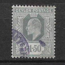 Sellos: CEYLON 1905 USED - 8/24. Lote 146765894