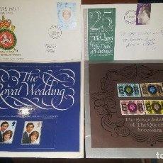 Sellos: 2 FOLLETOS CON SELLOS, THE ROYAL WEDDING Y THE SILVER JUBILEE OF THE QUEENS, 1981 Y 1977. Lote 147079958