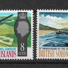 Sellos: SOLOMON ISLANDS 1967 SC # 174 - 175 MH & - 10/15. Lote 147093346