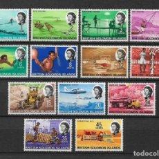 Sellos: SOLOMON ISLANDS 1968 SC# 180 - 192 MH & - 10/15. Lote 147093502
