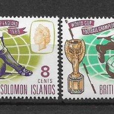 Sellos: SOLOMON ISLANDS 1966 SC # 167 - 168 MH - 10/14. Lote 147094682