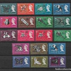 Sellos: SOLOMON ISLANDS 1966 - 67 SC# 149 - 166 MH & - 10/14. Lote 147094782
