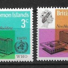 Sellos: SOLOMON ISLANDS 1966 SC # 169 - 170 MH - 10/14. Lote 147094826