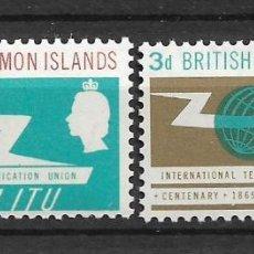 Sellos: SOLOMON ISLANDS 1965 SC # 126 - 127 MH - 10/12. Lote 147094990