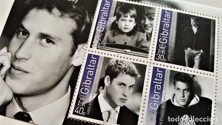 Sellos: GIBRALTAR 2003 Prince WILLIAM's 21st Birthday HOJITA - Foto 2 - 149355852