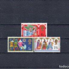 Sellos: GRAN BRETAÑA 1969, YVERT 579-81, MNH-SC. Lote 147491666