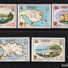 Sellos: JERSEY 174/78** - AÑO 1978 - CAPEX 78 - MAPAS Y ARTE. Lote 147495326
