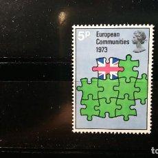 Sellos: SELLO NUEVO 3 ENERO 1973. ENTRADA G. BRETAÑA EN UNION EUROPEA. Nº IVERT- 676. SIN CHARNELA. Lote 149365834
