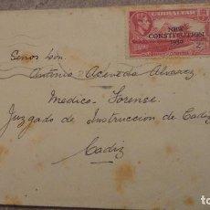 Sellos: ANTIGUO SOBRE CON SELLO GIBRALTAR CONTITUTION 1950.. Lote 151903742