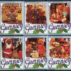 Sellos: GUERNESEY 1997 IVERT 757/62 *** NAVIDAD - FIESTA DE LOS OSOS DE PELUCHE. Lote 152333438