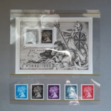 Sellos: SERIE CONMEMORATIVA SELLOS GRAN BRETAÑA 1840 - 1990. Lote 152518809
