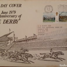 Sellos: SOBRE ANIVERSARY OF THE DERBY 1979. Lote 152527162