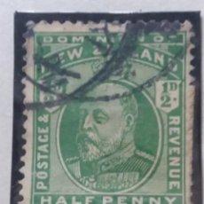 Sellos: SELLO, COLONIAS BRITANICAS, NEW CEALAND HALF PENNY, REY EDUARD VII, 1909. Lote 152576062