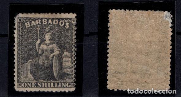 Sellos: SELLO GRAN BRETAÑA BARBADOS SELLO SG 61 YVEST 13* 170€ - Foto 3 - 152824206