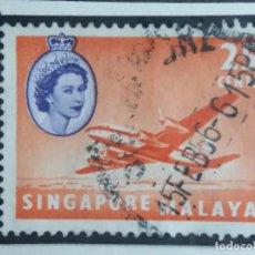 Sellos: SELLO, COLONIAS BRITANICAS, SINGAPURE MALAYA 6 CENTS, REINA ELIZABEL II 1948, . Lote 152950742