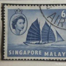 Sellos: SELLO, COLONIAS BRITANICAS, SINGAPURE MALAYA 6 CENTS, REINA ELIZABEL II 1948, . Lote 152950942