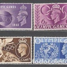 Sellos: GRAN BRETAÑA - CORREO 1948 YVERT 241/4 ** MNH OLIMPIADAS DE LONDRES. Lote 153989856
