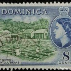 Sellos: SELLOS, COLONIAS INGLESAS, DOMINICA 8 CENTS, REINA ELIZABETH II, AÑO 1954... Lote 154523926