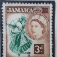 Sellos: SELLOS, COLONIAS INGLESAS, JAMAICAI, REINA ELIZABETH II, 3D, AÑO 1956. . Lote 155981402