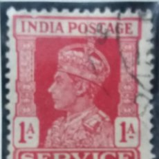 Sellos: SELLOS, COLONIAS INGLESAS, INDIA SERVICE, REY GEORGE VI, 1A, AÑO 1940. . Lote 155982170