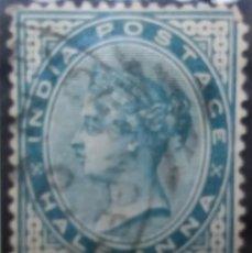 Sellos: SELLOS, COLONIAS INGLESAS, INDIA, REINA VICTORIA, HALF ANNA, AÑO 1883.. Lote 155986030