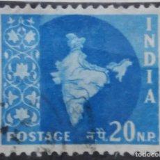 Sellos: SELLOS, COLONIAS INGLESAS, INDIA, 20NP, AÑO 1957.. Lote 155987658