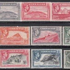 Sellos: GIBRALTAR, 1938-47 YVERT Nº 103 / 116 /*/ . Lote 156907994