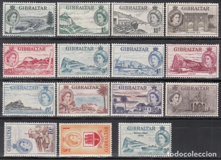 GIBRALTAR, 1953 YVERT Nº 130 / 143, 144, /*/ (Sellos - Extranjero - Europa - Gran Bretaña)