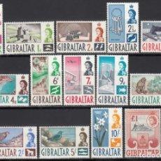 Sellos: GIBRALTAR, 1960-65 YVERT Nº 145 / 158 /*/. Lote 156912602