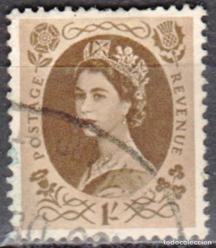 GRAN BRETAÑA - UNA SELLO - IVERT #276 - ***REINA ELIZABETH II - PREDECIMAL*** - AÑO 1953 - USADO (Sellos - Extranjero - Europa - Gran Bretaña)