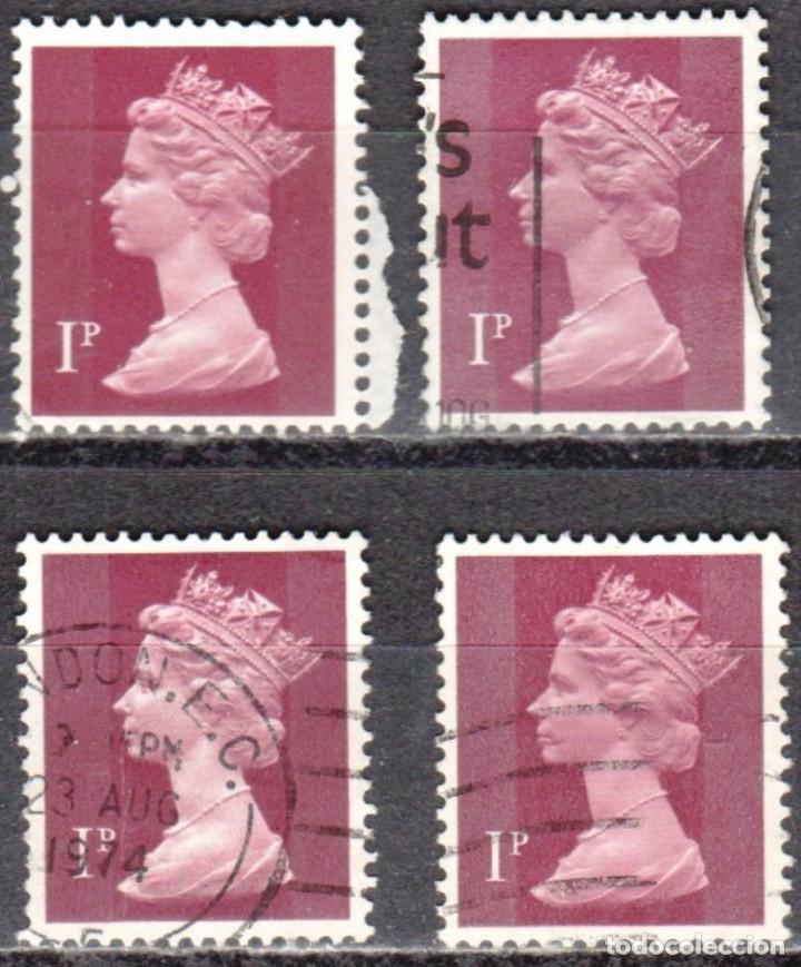 REINO UNIDO - CUATRO SELLOS - IVERT #606 - ***REINA ELIZABETH II - DECIMAL*** - AÑO 1971 - USADOS (Sellos - Extranjero - Europa - Gran Bretaña)