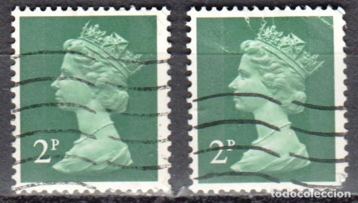 GRAN BRETAÑA - DOS SELLOS - IVERT #608 - ***REINA ELIZABETH II - DECIMAL*** - AÑO 1971 - USADOS (Sellos - Extranjero - Europa - Gran Bretaña)