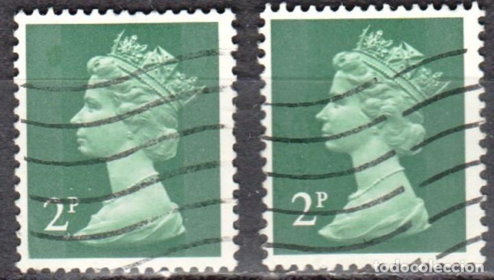 REINO UNIDO - DOS SELLOS - IVERT #608 - ***REINA ELIZABETH II - DECIMAL*** - AÑO 1971 - USADOS (Sellos - Extranjero - Europa - Gran Bretaña)