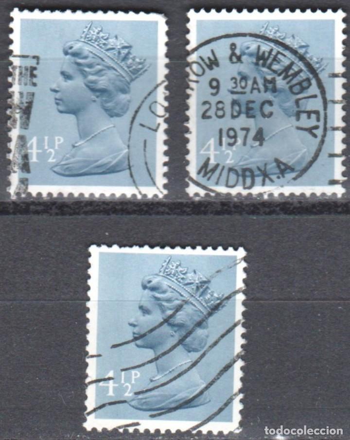 GRAN BRETAÑA - TRES SELLOS - IVERT #697 - ***REINA ELIZABETH II - DECIMAL*** - AÑO 1973 - USADOS (Sellos - Extranjero - Europa - Gran Bretaña)
