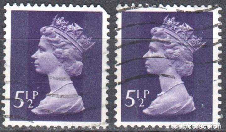 GRAN BRETAÑA - DOS SELLOS - IVERT #698 - ***REINA ELIZABETH II - DECIMAL*** - AÑO 1973 - USADOS (Sellos - Extranjero - Europa - Gran Bretaña)
