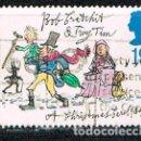 Sellos: INGLATERRA IVERT Nº 1704, NAVIDAD 1993, 150 ANIVERSARIO DEL LIBRO CANTO DE NAVIDDA DE DICKENS, USADO. Lote 160379646