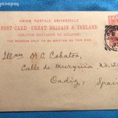 Sellos: LONDRES CÁDIZ. 1893.. Lote 160937388