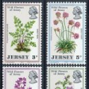 Sellos: JERSEY 1971 IVERT 55/58 *** FLORA - FLORES SILVESTRES. Lote 160994570