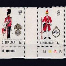 Sellos: GIBRALTAR.- 274/77 SERIES DE UNIFORMES MILITARES NUEVOS SIN CHARNELA. . Lote 161809242