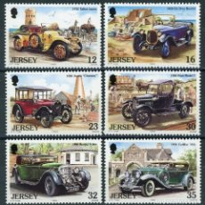Sellos: JERSEY 1989 IVERT 451/6 *** AUTOMOVILES ANTIGUOS - COCHES. Lote 163400694