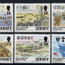Sellos: JERSEY 1994 IVERT 653/8 *** 50º ANIVERSARIO DEL DESEMBARCO DE NORMANDIA EN LA 2ª GUERRA MUNDIAL. Lote 164483178