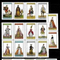 Sellos: GRAN BRETAÑA LOTE DE 19 VIÑETAS DE TRAJES INGLESES NUEVOS CON CHARNELA. . Lote 165508822