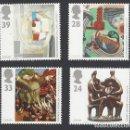 Sellos: GRAN BRETAÑA 1993 ARTE (EUROPA) SET DE 4V MNH SG 1767-70 YT 1674-77. Lote 165800570