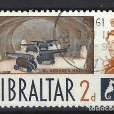 Sellos: GIBRALTAR 1960 - NUEVOS SELLOS DIARIOS - SELLO USADO. Lote 166671834