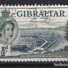 Sellos: GIBRALTAR 1953 - REINA ISABEL II - SELLO USADO. Lote 166680194