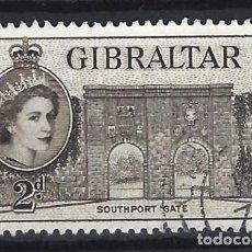 Sellos: GIBRALTAR 1953 - REINA ISABEL II - SELLO USADO. Lote 166680294