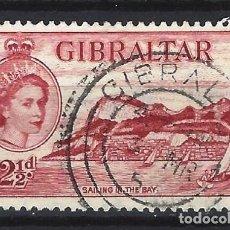 Sellos: GIBRALTAR 1953 - REINA ISABEL II - SELLO USADO. Lote 166680342